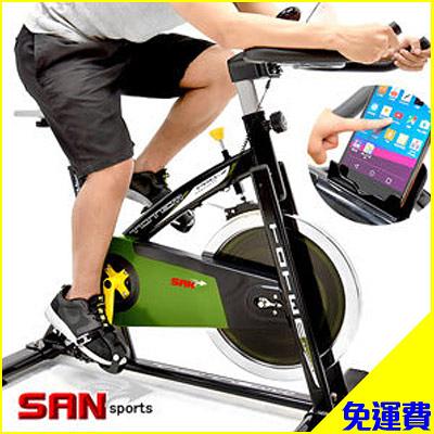 免運!!戰車18KG飛輪健身車(4倍強度)18公斤飛輪車.公路車自行車訓練機台.腳踏車美腿機【SAN SPORTS】