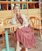 雪紡連身裙女夏季新款中長款吊帶裙子個性寬鬆chic襯衫