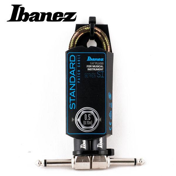 小叮噹的店-IBANEZ SI05P-CGR WOVEN 0.5呎 編織 短導線 (灰綠)