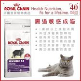 *WANG*法國皇家S33《挑嘴/腸胃敏感成貓》4公斤