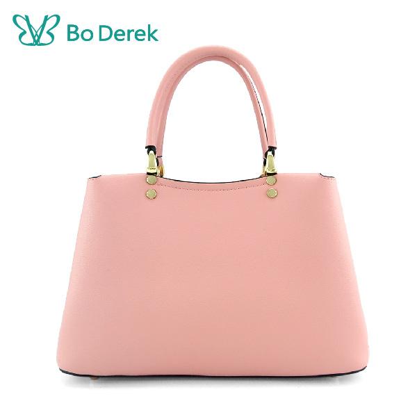 Bo derek 趣味吊飾手提斜背包-粉色