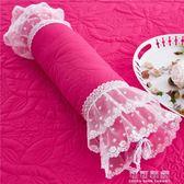 碎花糖果枕頭居家臥室抱枕靠墊蕾絲花邊含芯可拆洗辦公室汽車韓版YJT 流行花園