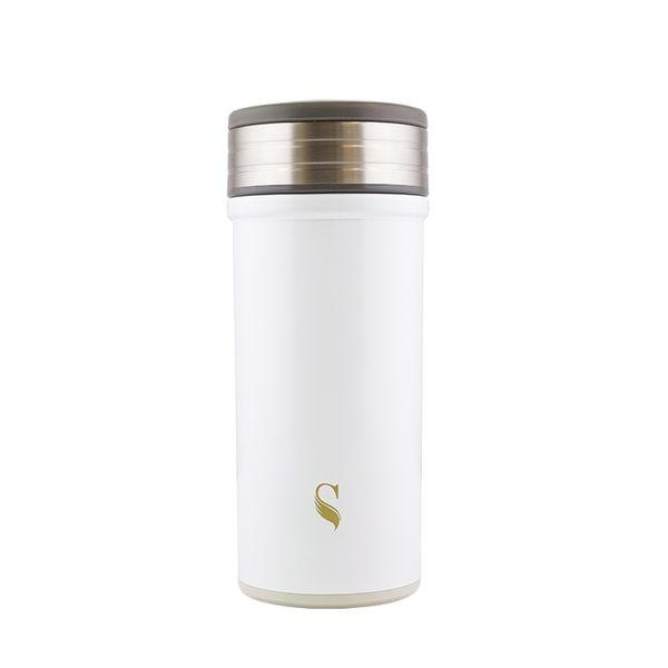【等一個人咖啡】ikuk保溫杯好提火把360ml-白