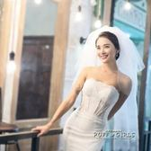 新娘頭紗多層簡約韓式短款婚紗配件