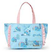 〔小禮堂〕山姆企鵝 防水手提袋《藍.星星.睡覺》購物袋.便當袋.野餐袋 4901610-58583
