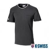 K-SWISS Ks Logo Crew Neck Tee印花短袖T恤-男-黑