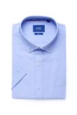 SST&C 男裝 鈕扣領淺藍短袖襯衫 | 0412004003