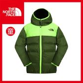 【The North Face 男童 雙面550FP羽絨外套《青蔥綠》】CSB7/童裝/保暖外套/賞雪/戶外