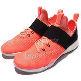 【四折特賣】Nike 訓練鞋 Wmns Air Zoom Strong 橘紅 黑 襪套式 魔鬼氈 女鞋 運動鞋【PUMP306】 843975-800