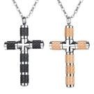 《QBOX 》FASHION 飾品【C21N1866】精緻個性歐美工業風十字架鈦鋼墬子項鍊/掛飾