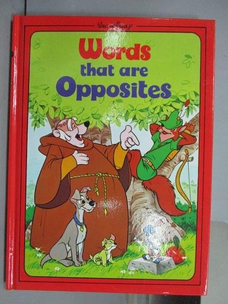 【書寶二手書T5/少年童書_PNT】Word that are Opposites_Disney