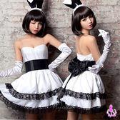 俏皮露肩洋裝四件式兔女郎角色扮演服 性感情趣睡衣 女衣閨蜜萌萌《生活美學》