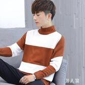 高領毛衣男士韓版潮流寬鬆針織衫男裝長袖秋裝學生羊毛衫 zm9463『男人範』
