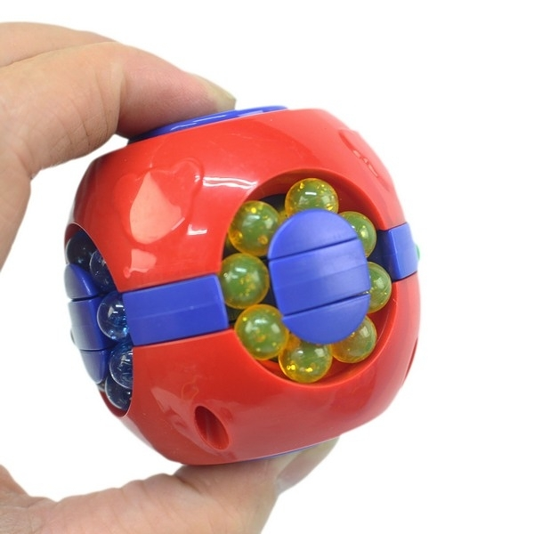 小魔豆 指尖旋轉陀螺 漢堡魔方/一個入(促70) 手指旋轉陀螺 兒童解壓減壓 益智玩具-睿AZ1050