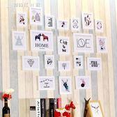 愛心照片墻相框墻心形20個相框組合北歐婚紗影樓家裝客廳臥室書房igo 【創時代3c館】