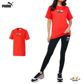 Puma Hello Kitty 女 紅色 短袖 上衣 圓領 T恤 棉質 聯名款 運動 休閒 短T 59714199