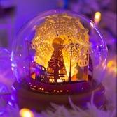 diy光影紙雕燈 動態摩天輪創意3Ddiy手工材料包溫馨臥室裝飾禮物台燈 - 雙十二交換禮物