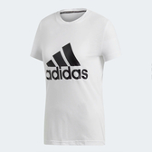 Adidas W MH BOS TEE [DZ0013] 女 運動 休閒 圓領 短袖 上衣 舒適 棉T 愛迪達 白