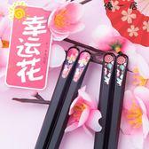 10雙日式尖頭筷子防滑合金筷筷子套裝