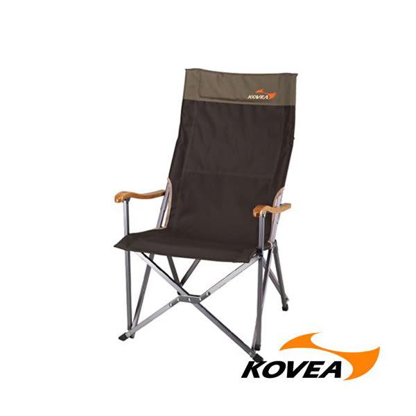 [Kovea]FB休閒高背折收椅-竹扶手(KR8CH0202)