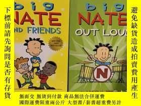 二手書博民逛書店Big罕見Nate Out Loud+Big Nate and Friends套裝兩冊合售Y318991 Li