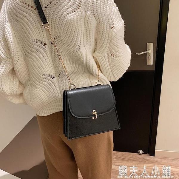 新款時尚冬天單肩斜挎大容量小方包純色錬條雙面包 錢夫人小鋪