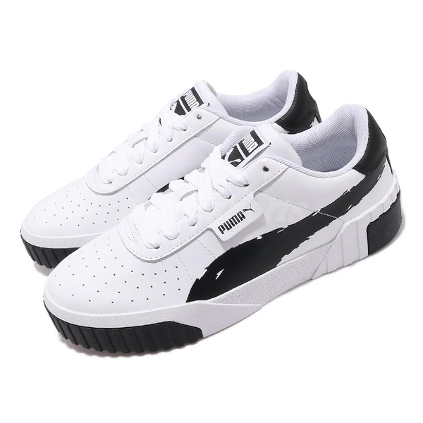 Puma 休閒鞋 Cali Brushed Wns 黑 白 女鞋 運動鞋 皮革鞋面 【PUMP306】 37389601