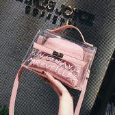 夏天小包包女2019新款潮透明子母包正韓百搭手提單肩包簡約斜挎包