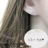 耳環 現貨 韓國 氣質 甜美 限量 百搭 簡約.不規則.星星.連線.銀針 耳針 S92835 Danica 韓系飾品
