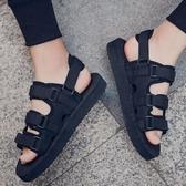 涼鞋男韓版潮流夏季拖鞋個性百搭沙灘透氣防滑休閒鞋學生戶外