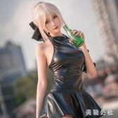 Fate吾王黑saber泳衣死庫水泳裝cosplay動漫性感服裝女二次元情趣TT1605『美鞋公社』