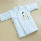 GMP BABY 寶貝保暖夾棉格邊鋪棉長和服~1件藍色