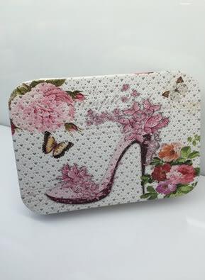 高檔多層帶鎖首飾盒韓國便攜公主首飾品收納盒歐式絨布化妝盒子