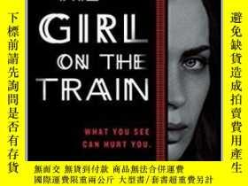 二手書博民逛書店The罕見Girl on the Train 列車女孩 英文原版