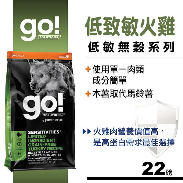 【SofyDOG】Go! 低致敏火雞肉無穀全犬配方 (22磅) 狗飼料 狗糧
