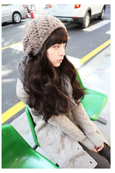 【WASSK】 W555 新款 甜美氣質修臉蓬鬆 長捲髮 全頂式 高溫卡絲 耐熱卡絲 韓式假髮 捲 大波浪