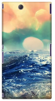 ✿ 3C膜露露 ✿ {流水*水晶硬殼} Sony Xperia Z Ultra C6802 / xL39H手機殼 手機套 保護套 保護殼