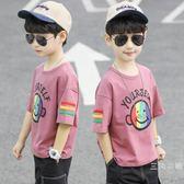 男童短袖t恤2019新品孩子中大童打底衫薄款夏季潮童寬松洋氣上衣