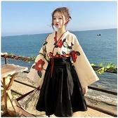 日式日本和服女 改良 中國風正裝傳統全套結婚復古櫻花學生演出服