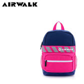 【橘子包包館】AIRWALK 快樂斑馬線 糖果撞色輕量尼龍兒童後背包 A635324480 藍桃