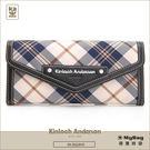 Kinloch Anderson 金安德森 皮夾 英式學院 黑色 經典格紋長夾 牛皮女夾 KA151203  MyBag得意時袋