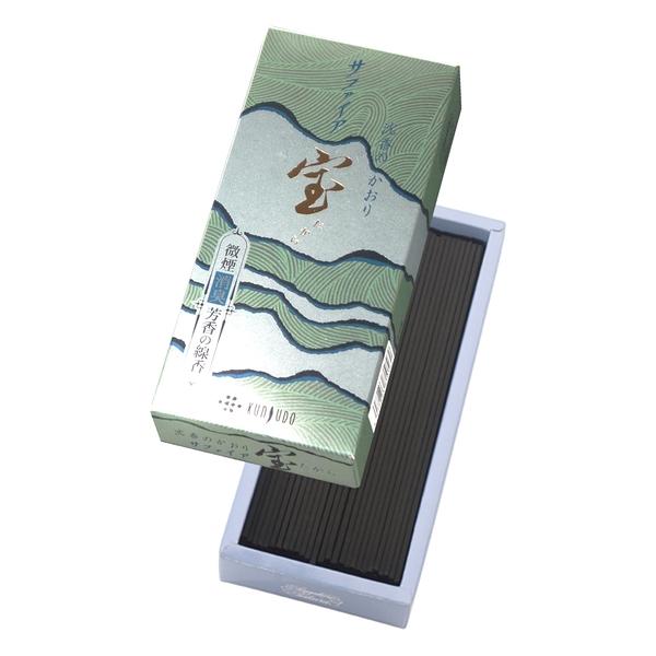 日本神戶薰壽堂 寶線香(SAPPHIRE)沉香 微煙線香(小盒裝)