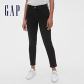 Gap女裝 舒適彈力緊身牛仔褲 495918-水洗黑