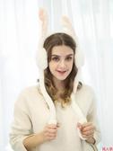 保暖耳罩冬季耳套保暖可愛會動的兔子耳包護耳朵耳暖捂耳罩女冬天網紅兒童-『美人季』