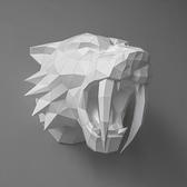 正版匠紙_DIY材料包_手作_3D紙模型_禮物_劍齒虎壁飾