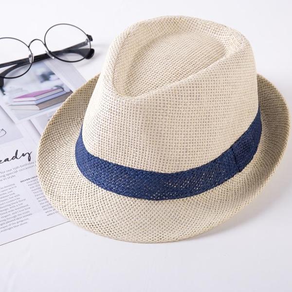 夏季中年太陽遮陽帽出旅游男士草帽爵士沙灘帽子中老年人爸爸禮帽 智慧 618狂歡