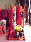 消防器材批發中心 7.5HP汽油整套式自動加壓消防泵浦噴水設備.消防栓箱 .水帶箱.滅火器