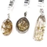 『晶鑽水晶』招財鈦晶墜子 清透度超高 送禮 收藏禮物 附皮繩 附禮盒 60-62