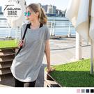 《KS0513》台灣製造.透氣吸濕排汗花紗寬圓領上衣 OrangeBear