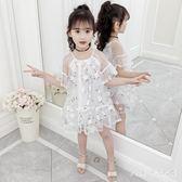 女童公主裙夏裝2019新款韓版童裝中大童兒童連身裙女孩洋氣網紗裙 BP160【Pink中大尺碼】